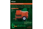 Model 500 lb. - Hydraulic Refractory Paddle Mixer - Brochure