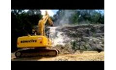 The New Drum Cutter MB-R700 on a PC Komatsu 220 - Australia Video