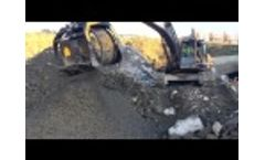 The Screening Bucket MB-S18 S3 is Working for the New Metro Project in Istanbul Video