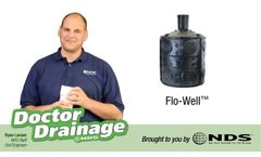 Drainage Benefits of the NDS Flo-Well - Video
