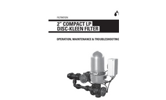 Netafim - 2 Compact - Low Pressure Automatic Disc-Kleen Filters - Manual