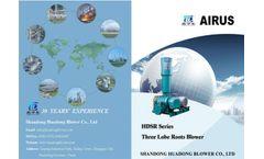 Huadong - Model HDSR 50 to 350 - Lobe Roots Blower Brochure