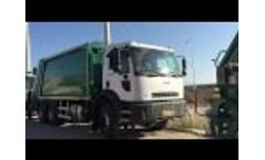 New Garbage Trucks Ready for Transportation to Europe Video