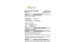 Trivol 102 Natural Based Regeneration Absorbent MSDS