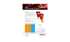 Model JR11 - Thermal Activation Generator Brochure
