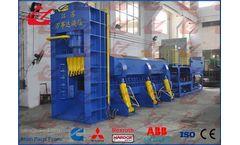 Wanshida - Model Y83Q-6300C - Heavy Duty Scrap Metal Shear Baler/Car Baler/Shearing Press/Car Logger Baler