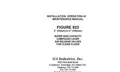 Figure 923 - Super High Capacity Compound Lever Air Release Valve - Manual