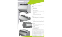 Model PNT - Milk Transfer Tank - Brochure