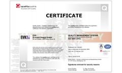 Quality Management System ISO 9001:2015 Certification