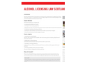 E-LEARNING -Alcohol Licensing Law Brochure