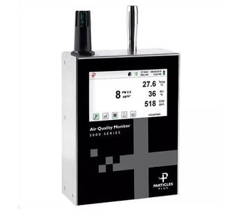 Particles Plus - Model 5301-AQM and 5302-AQM - Indoor Remote Air Quality Monitors (CO2, Temp, RH, and TVOC)