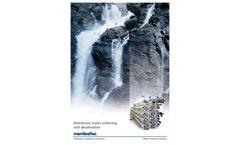 Membrane Water Softening and Desalination Datasheet