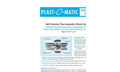 Model Series CKM - Self-Closing Thermoplastic Check Valves Brochure