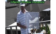 Inflector Window Insulators - Solar Heat Test - 2 - Video