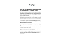 Piping System Solutions For The Municipal Water & Wastewater