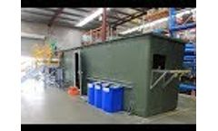 MAK Water Activated Sludge Bioreactor (ASBR) with internal plant room - Video