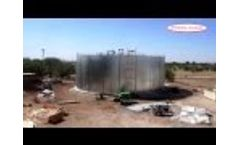 Complete Wire-Wrapped Prestressed Concrete Tank Construction Video