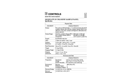 IC Controls - Model 875-25 - Free Available Chlorine Analyzer With Sample Panel Specifications