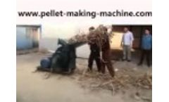 Electric Wood Hammer Mill/Biomass Material Grinding Machine - Video