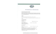 Model PLS 477FC Series - Poly Lining Systems - Technical Datasheet