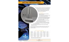 CPVC Ventilation Duct - Information Bulletins