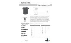 Neutratank Submittal Data Sheet
