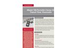 Accusonic - Model 788 - Portable Clamp-On Transit-Time Flowmeter Brochure