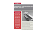 Accusonic - Models 7630/7634 - Dual-Element Internal-Mount Transducers Brochure