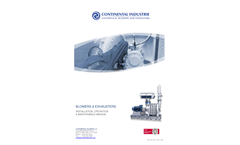 Blowers & Exhausters - Installation, Operation & Maintenance Manual