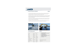 Lamor - Model LRB 250 W - Brush Skimmer Oil Recovery Bucket - Technical Specification