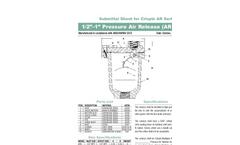 Low Capacity Pressure Air Release Valve AR Series- Brochure