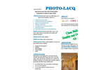 PhotoLacq - High Performance Semi-Satin Photocatalytic Waterborne Coating for Indoor Walls Brochure