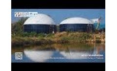 Double Membrane Biogas Holder Project for Cassava Factory in Thailand Video