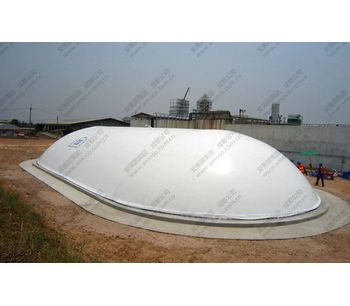 Amoco - Model AMD Type - Dantian Semi-Capsule Shape Double Membrane Biogas Holder