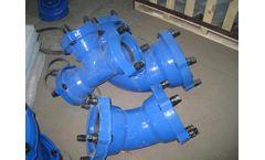 ductile iron 22.5 deg double socket bend (epoxy) - EX socket fitting