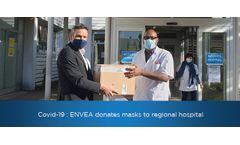 ENVEA have donated respirator masks to Poissy-Saint-Germain-en-Laye inter-municipal hospital (Paris area).