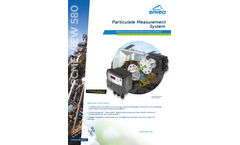 PCME VIEW 580 Particulate Measurement System - Datasheet