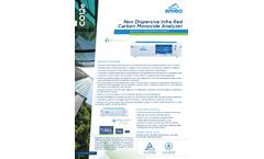 CO12e Non Dispersive Infra Red Carbon Monoxide Analyzer - Datasheet