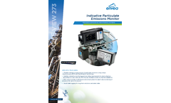 PCME VIEW 273 Indicative Particulate Emissions Monitor - Datasheet