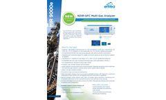 MIR 9000e NDIR-GFC Multi-Gas Analyzer - Datasheet