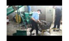 Garbage briquetting machine Video