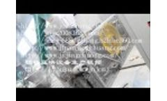 Double-head and high capacity wood breiquetting machine Video