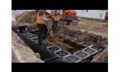 Installing a SUDS Stormwater Urban Drainage System Tree Pit Video