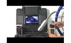 This video is about how to operate the C50 pipeline camera Video