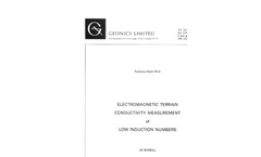 Electromagnetic Terrain Conductivity Measurement at Low Induction Numbers - Technical Note