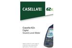 Casella - 62x Series - Digital Sound Level Meter - Datasheet