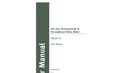 Casella - Model CEL-63x - Environmental & Occupational Noise Meter - User Manual