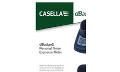 dBadge2 - Personal Noise Exposure Meter - Datasheet