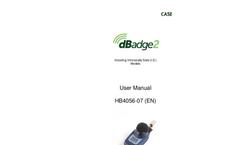 dBadge2 - Model HB4056-07 - Personal Noise Exposure Meter - User Manual