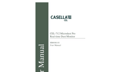 Casella - Model CEL-712 Microdust Pro Real-time Dust Monitor - Manual